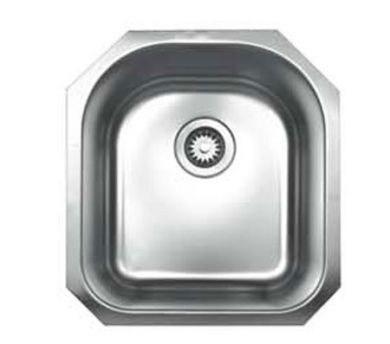 WhiteHaus WHNU1618 18 1/8 Inch Noah's Collection Single Bowl D-Bowl Undermount Sink