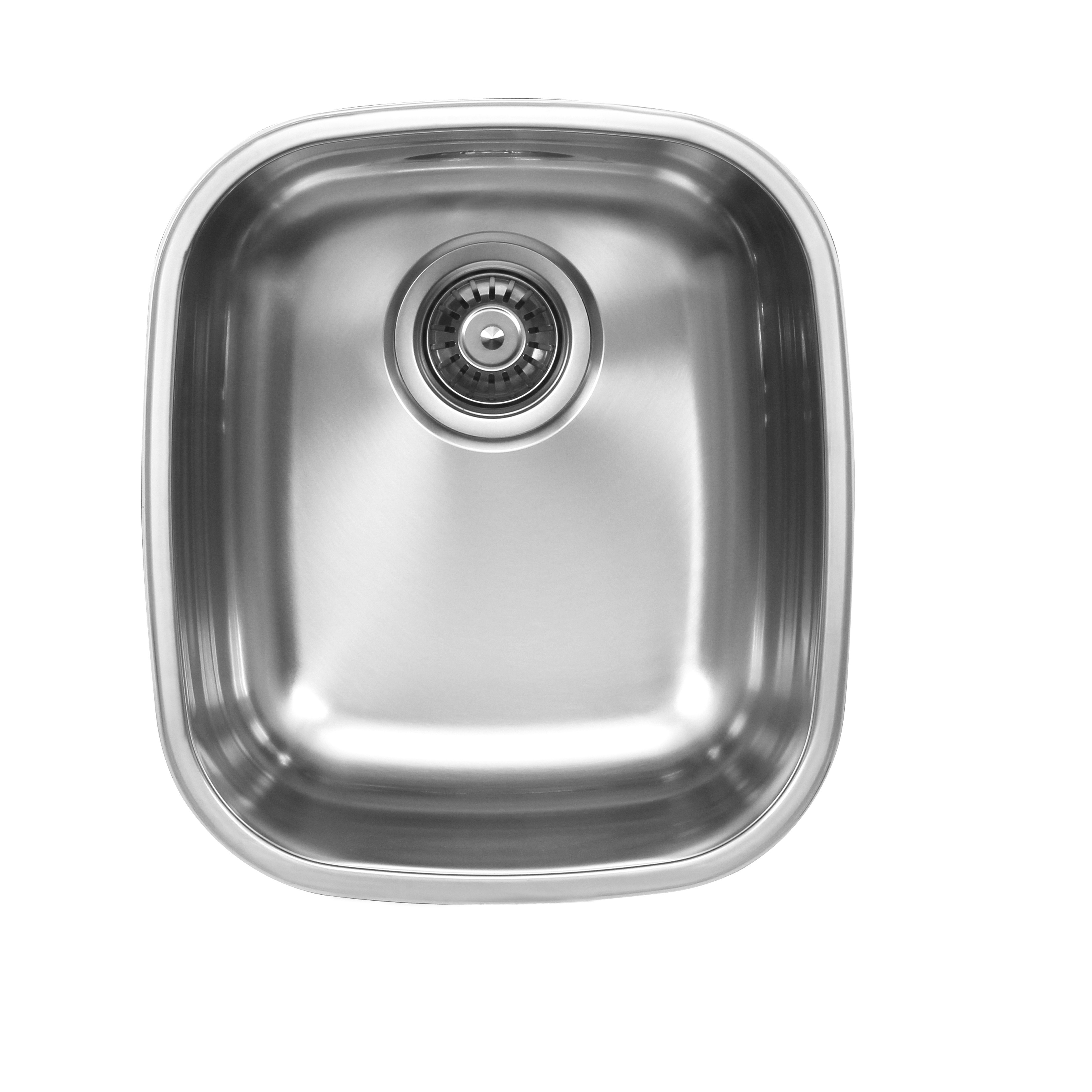 Ukinox D345.10C Undermount Single Bowl Stainless Steel Kitchen Sink With Cutting Board