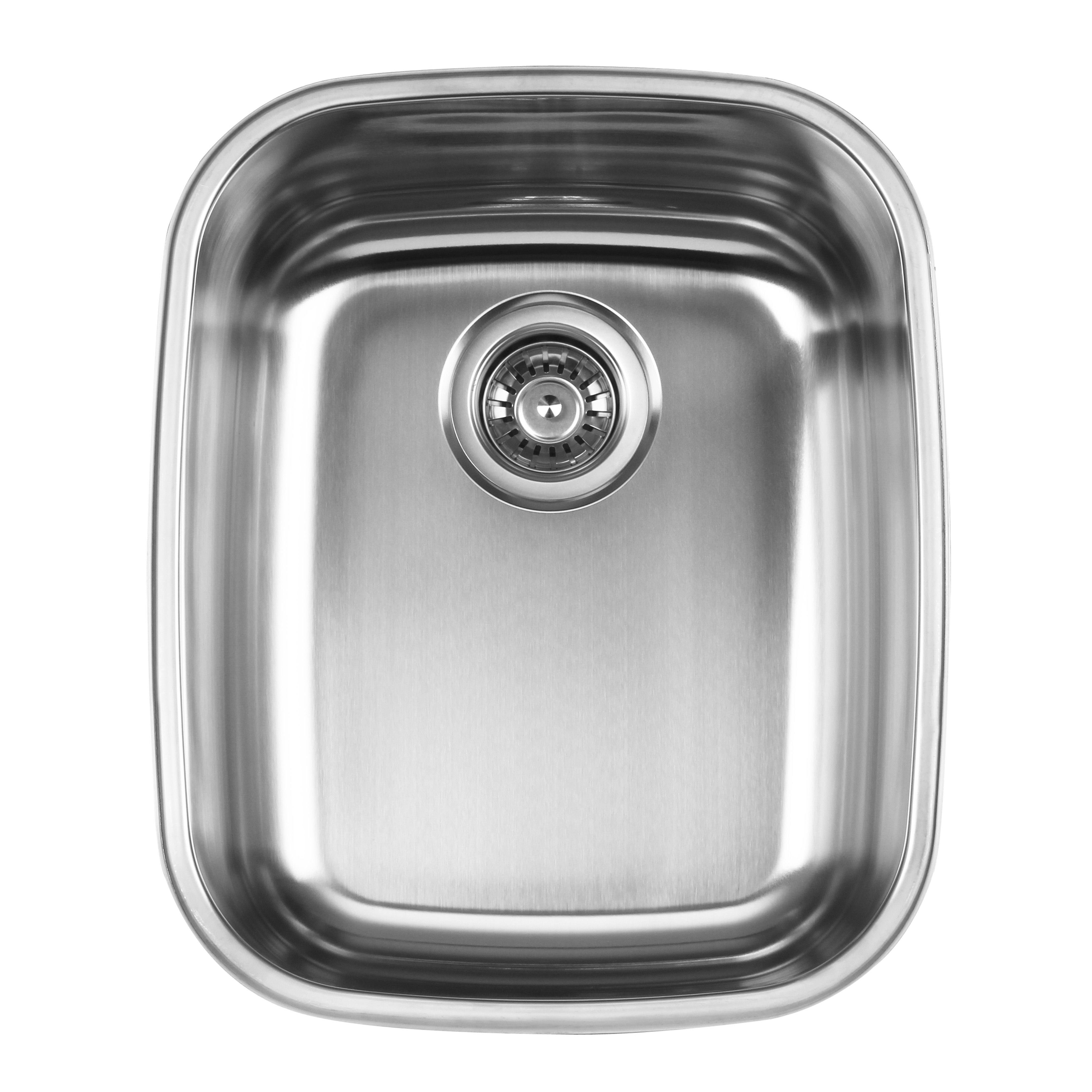 Ukinox D376.10C Undermount Single Bowl Stainless Steel Kitchen Sink With Cutting Board