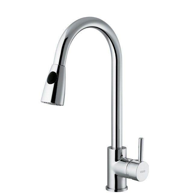 vigo vg02005 chrome pull out spray kitchen faucet vigo single handle pull down sprayer kitchen faucet with