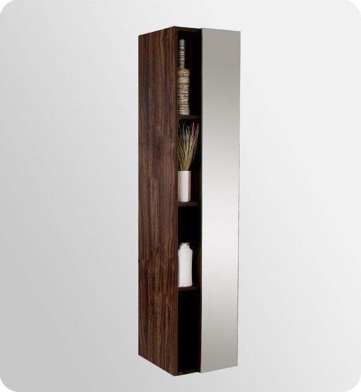walnut modern double sink bathroom vanity w medicine cabinet fresca