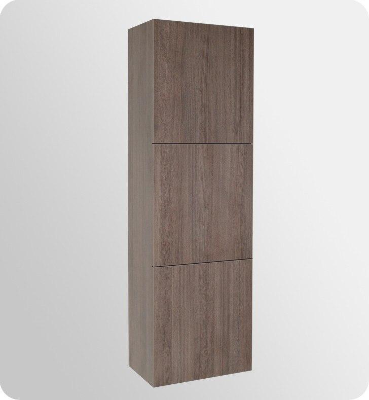 Fresca fvn8030go livello inch gray oak modern - Contemporary bathroom storage cabinets ...