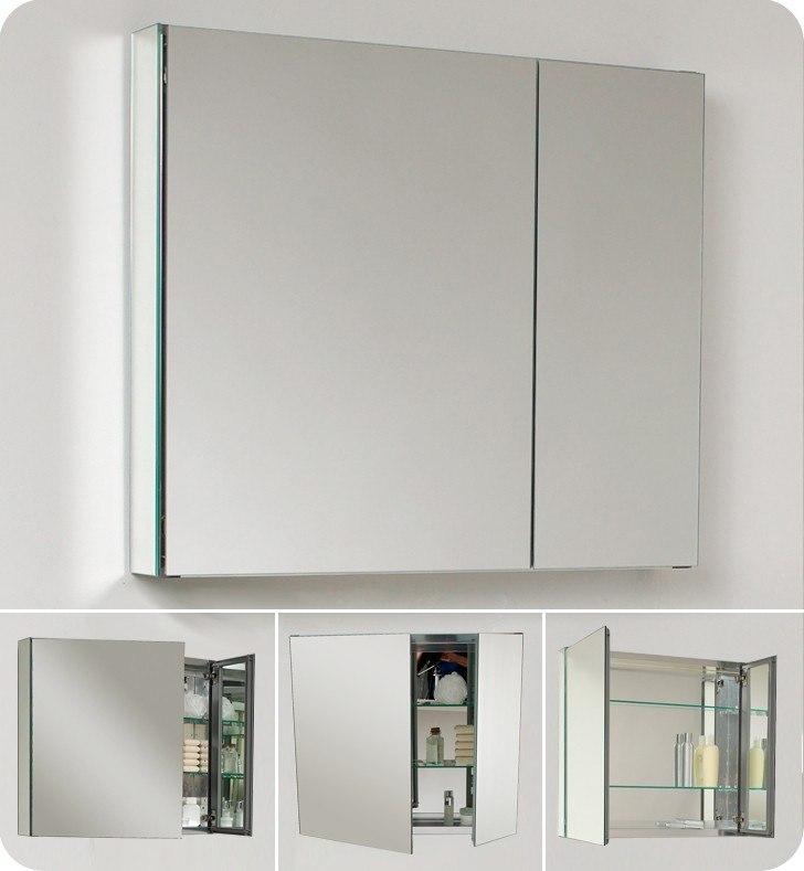 Fresca Fmc8090 Medium 29 5 Inch Wide Bathroom Medicine Cabinet W Mirrors Fresca Bathroom