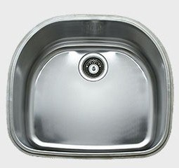 Ukinox D537.10 22 Inch Undermount Single Bowl Sink: 10 Inch Bowl Depth