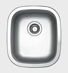 Ukinox UN345 15 Inch Undermount/Top Mount Single Bowl Sink