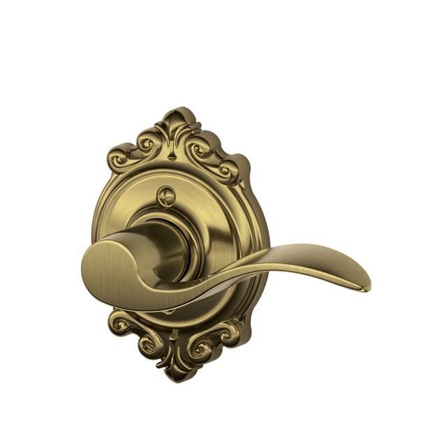 Schlage Residential F170ACCBRKRH F Series Accent with Brookshire Rose Dummy Door Locks
