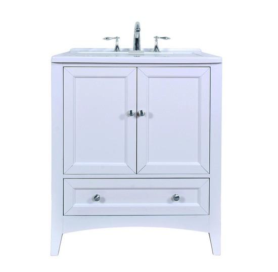 Stufurhome GM-Y01W 30 White Laundry Utility Sink GM-Y01W GMY01W