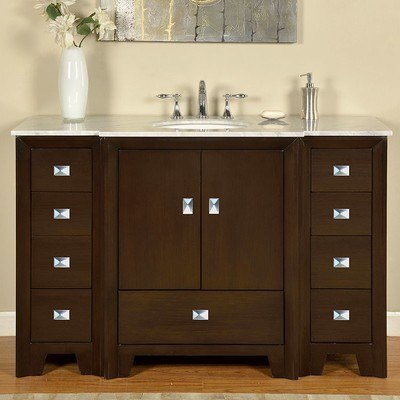 silkroad exclusive jb 0271 wm uwc 55 ilene 55 inch single bathroom vanity set jb 0271 wm uwc 55. Black Bedroom Furniture Sets. Home Design Ideas