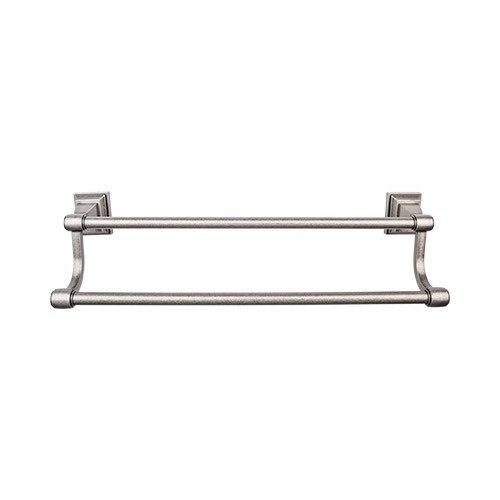 top knobs stk7 stratton 18 inch double towel bar stk7ap stk7bb stk7bsn stk7pn stk7tb. Black Bedroom Furniture Sets. Home Design Ideas