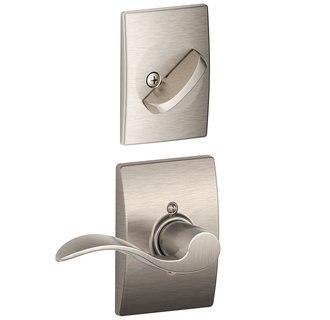 Schlage Residential F59ACCCENRH F Series Accent with Century Rose Door Lock Interior Trim
