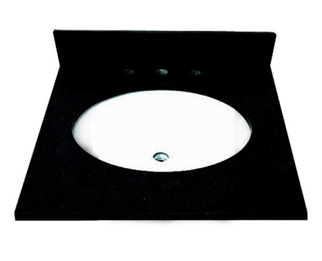 Foremost ST25228AB 25 Inch Granite Vanity Top with Pre-Attached Vitreous China Undermount Bowl