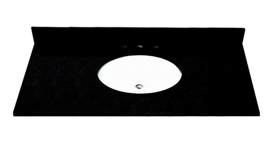 foremost st49228ab 49 inch granite vanity top with pre attached vitreous china undermount bowl. Black Bedroom Furniture Sets. Home Design Ideas
