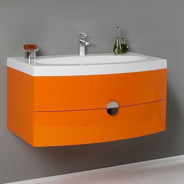 fresca fcb5092or i energia orange modern bathroom cabinet with integrated sink fcb5092or i