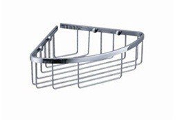 Fresca FAC1002 Single Corner Wire Basket - Chrome