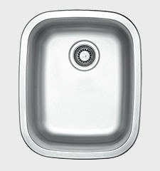 Ukinox UN376 17 Inch Undermount/Top Mount Single Bowl Sink