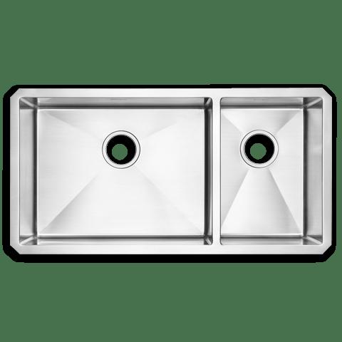 American Standard 12CR.361800 Prevoir Stainless Steel Undermount 35 x 18 Inch Combo 2-Bowl Kitchen Sink