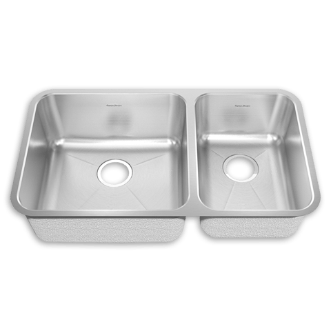 American Standard 14CR.331900 Prevoir Stainless Steel Undermount 32-7/8 x 18-3/4 Inch 2-Bowl Combo Kitchen Sink