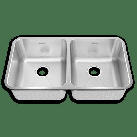American Standard 14DB.331900 Prevoir Stainless Steel Undermount 32-7/8 x 18-3/4 Inch 2-Bowl Crease Bottom Kitchen Sink