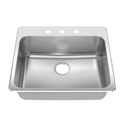 American Standard 15SB.252283 Prevoir Stainless Steel Drop-In 25-1/4 x 22 Inch 1-Bowl Kitchen Sink