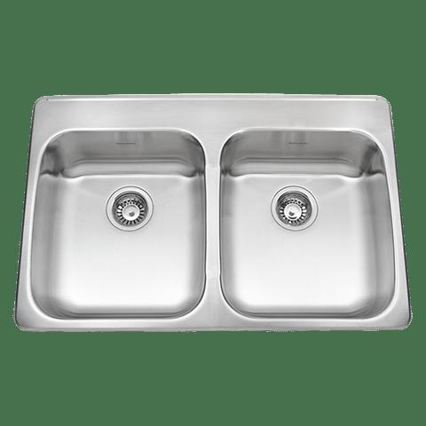 American Standard 24DB.332284.290 Prevoir ADA Double Bowl 33 Inch 18 Gauge Kitchen Sink