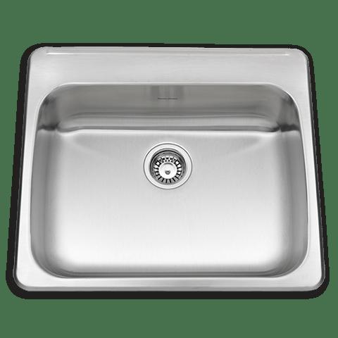 American Standard 24SB.252211.290 Prevoir ADA Single Bowl 25 Inch 18 Gauge Kitchen Sink