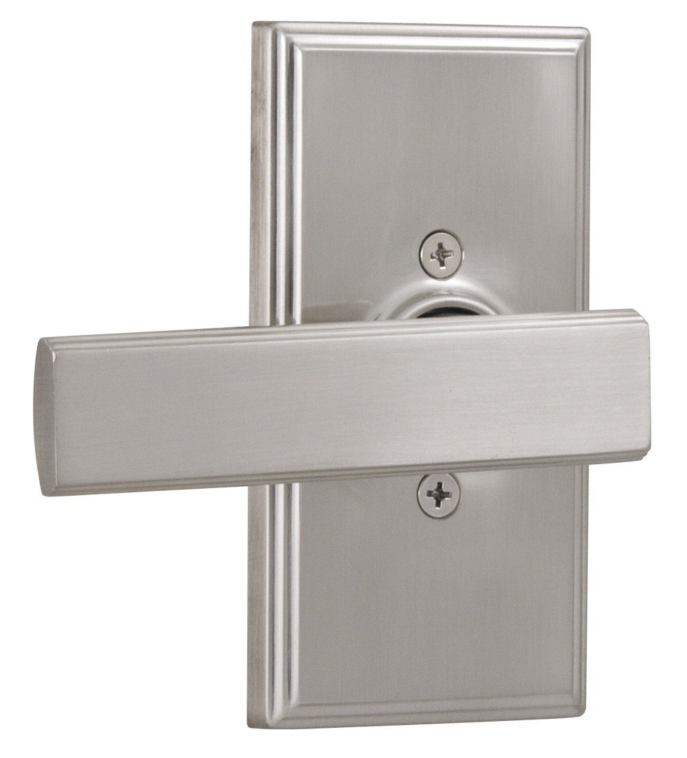 Weslock 03705P Elegance Utica Single Dummy Door Lever Set with Woodward Rosette