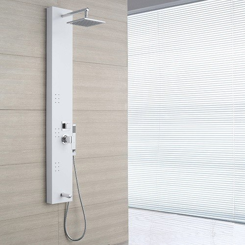 ove decors white 3jet shower tower system