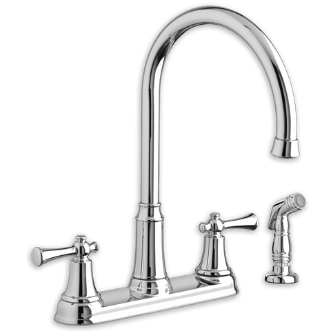 American Standard 4285.551.F15 Portsmouth 2-Handle High-Arc Kitchen Faucet with Side Spray 1.5 GPM/5.7 L/min. Maximum Flow Rate