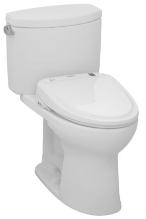 Toto MW454574CEFG#01 Drake II Connect+ S300e Two-Piece Toilet, 1.28 GPF with SanaGloss