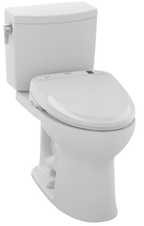 Toto MW454574CUFG#01 Drake II 1G Connect+ S300e Two-Piece Toilet, 1.0 GPF with SanaGloss