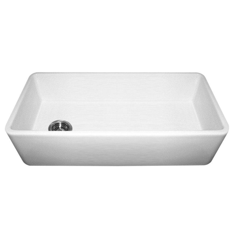 Fire Clay Sinks : Whitehaus WH3618 Duet 36 Inch Reversible Fireclay Sink w/ Smooth Front ...