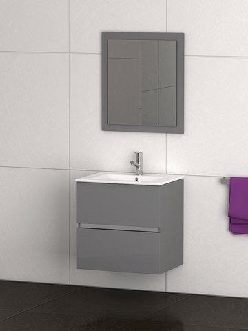 Eviva evvn572 24gr ikaro 24 inch inch gray modern bathroom vanity wall mount with white for Modern bathroom vanity 24 inch