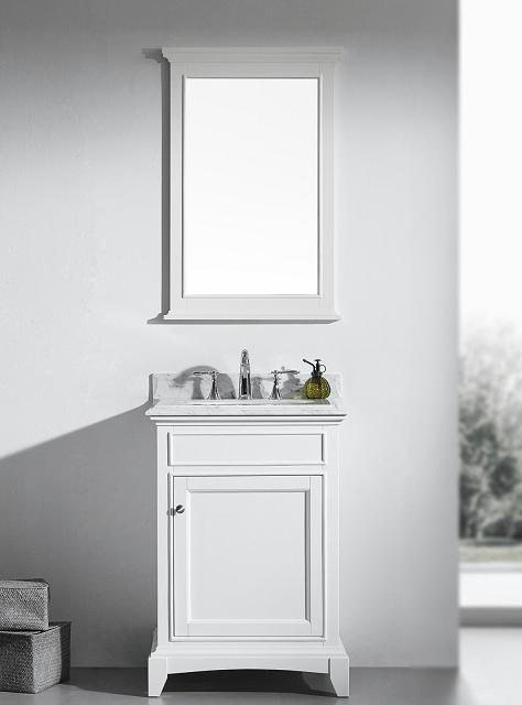 Eviva Evvn709 24wh Elite Stamford 24 Inch White Solid Wood Bathroom Vanity Set With Double Og