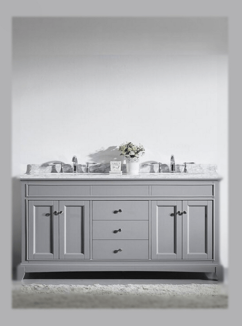 Eviva Evvn709 72gr Elite Stamford 72 Inch Gray Solid Wood Bathroom Vanity Set With Double Og