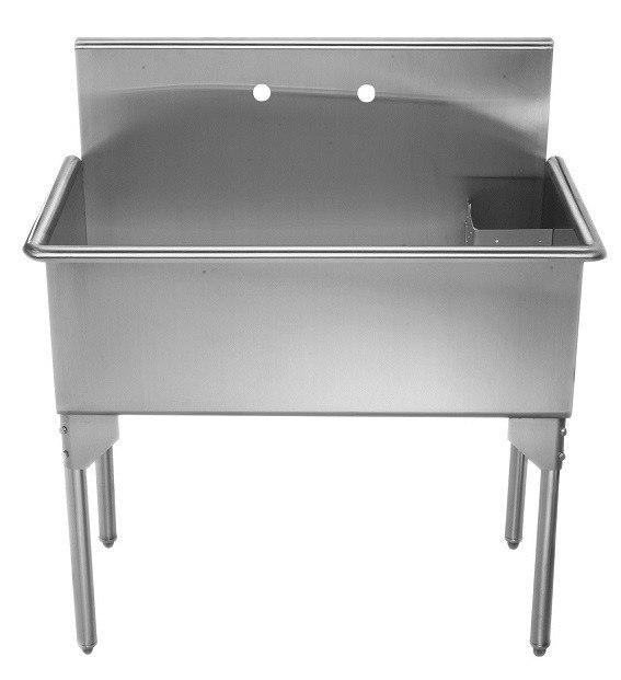 Stainless Steel Freestanding Utility Sink : ... WHLS3618-NP 36-Inch Brushed Stainless Steel Freestanding Utility Sink