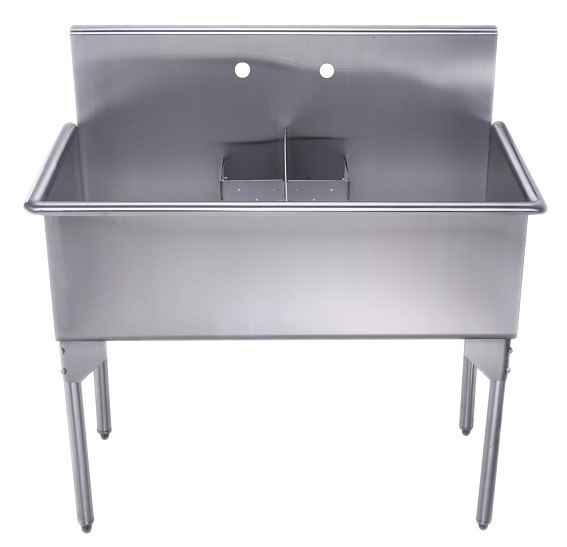 Utility Sink Stainless Steel Freestanding : ... Stainless Steel Freestanding Utility Sink WHLSDB4020-NP WHLSDB4020NP