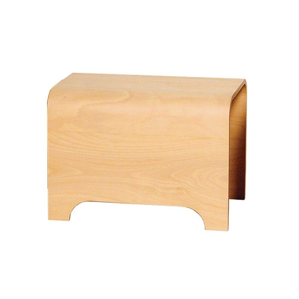 Whitehaus AEB55N Aeri 21-3/4 Inch Freestanding Wood Stool in Natural