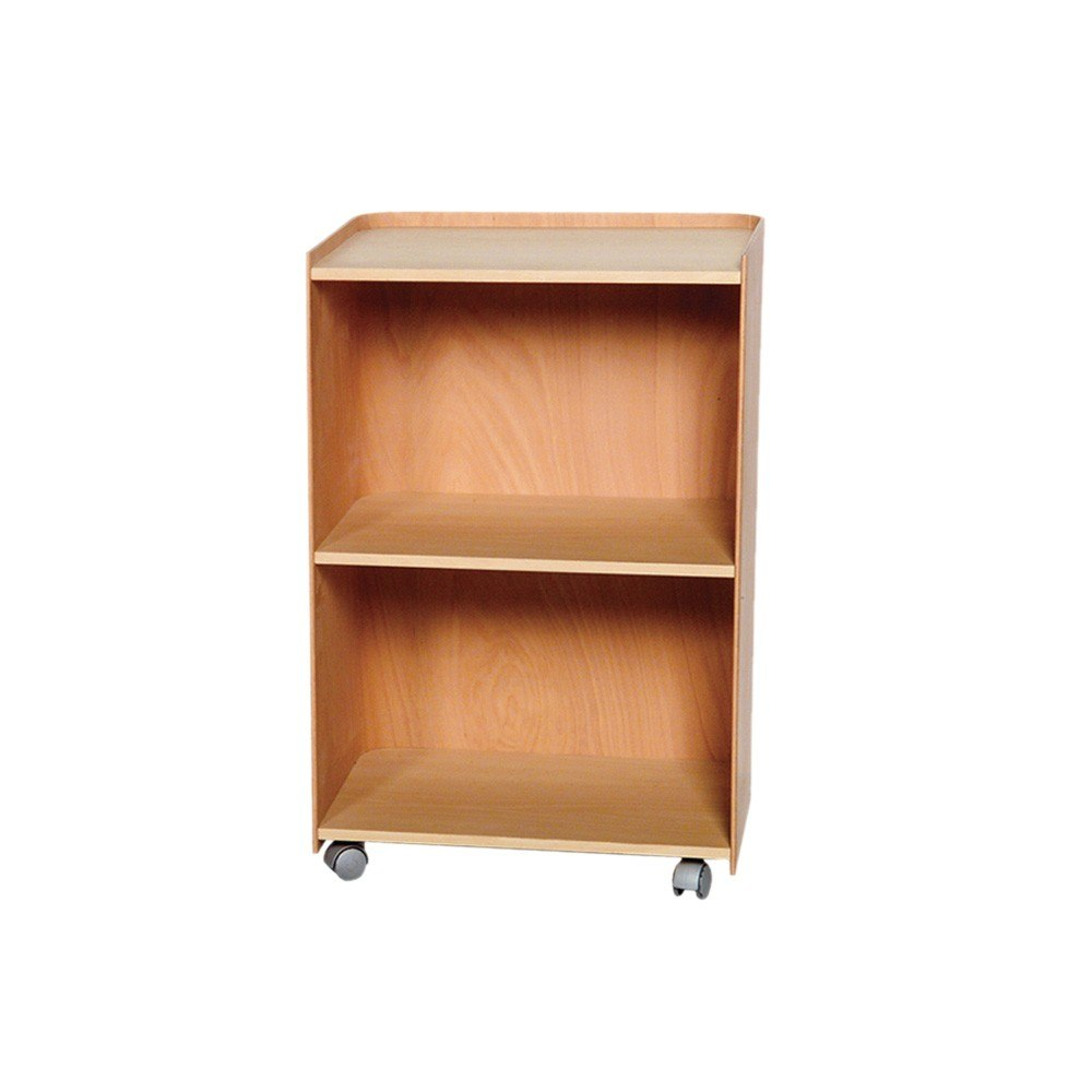 Whitehaus AECA55N Aeri 21-3/4 Inch Wood Cart with Three Shelves and Casters in Natural