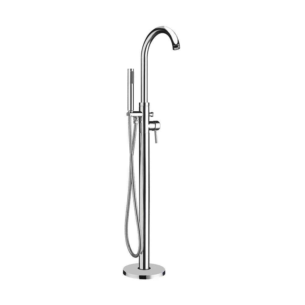 Whitehaus WHT7368S-C Bathhaus 9 Inch Freestanding Single Lever Tub Filler