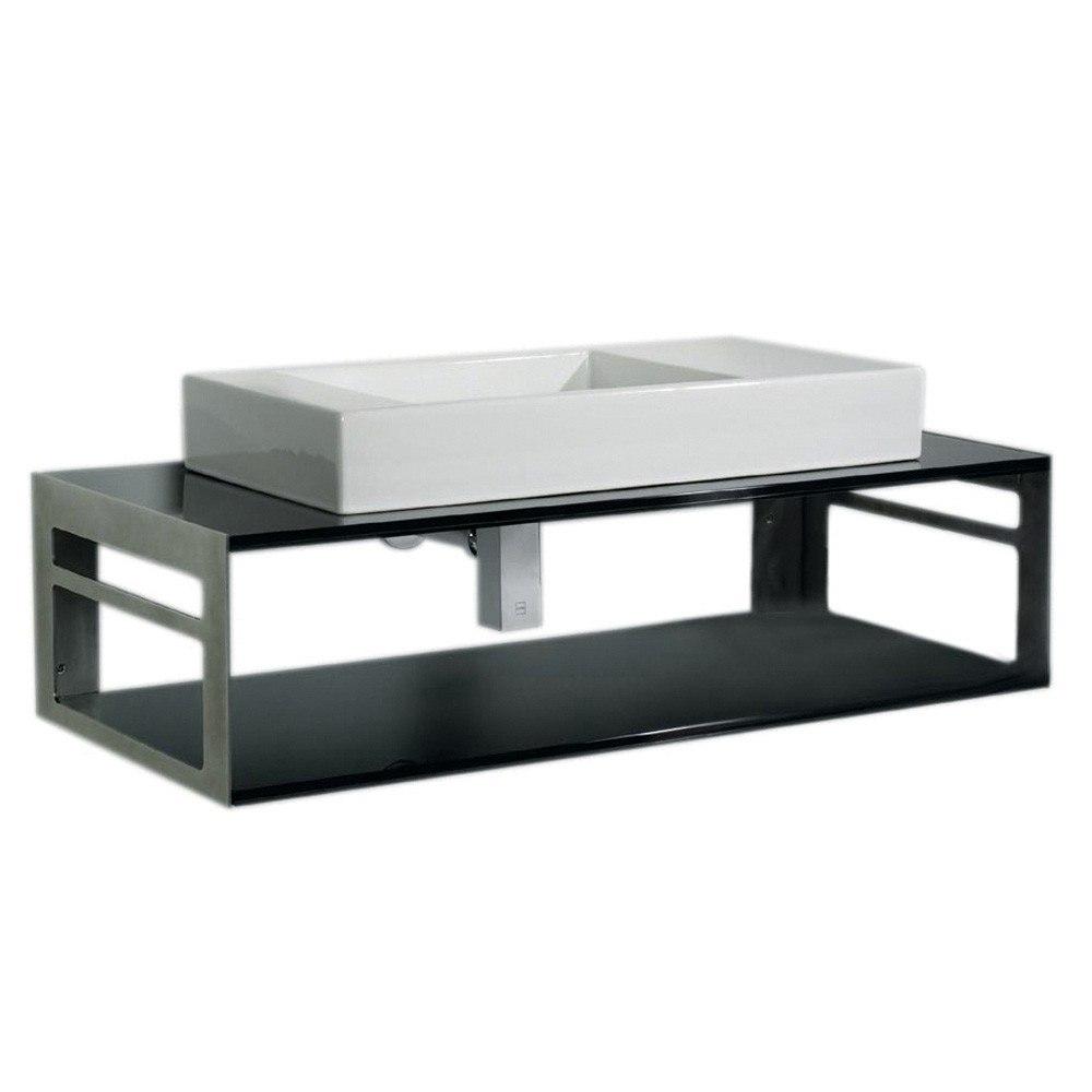Whitehaus WHTWINNG Aeri 39-3/4 Inch Counter Top and Shelf Unit