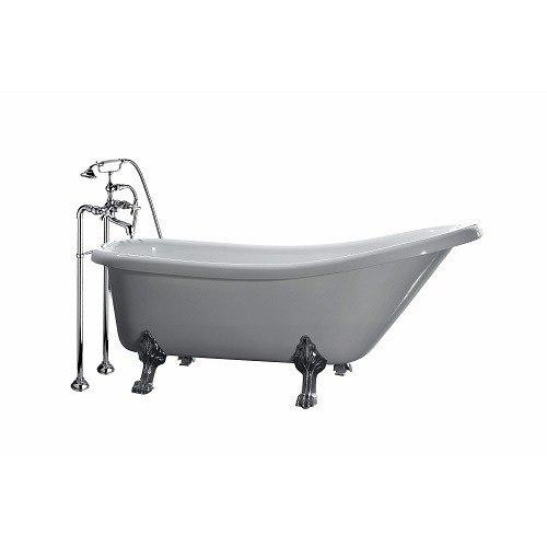 Ove decor 15btu cl4966 001mo classic 49 inch acrylic white for Acrylic clawfoot tub reviews