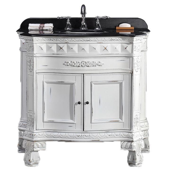 Ove decors 15vva buck36 k15af york 36 inch single sink vanity with granite top white 15vva for White 36 inch bathroom vanity