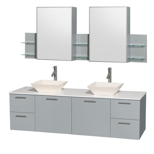 Washington Double Sink Vanity Set Espresso