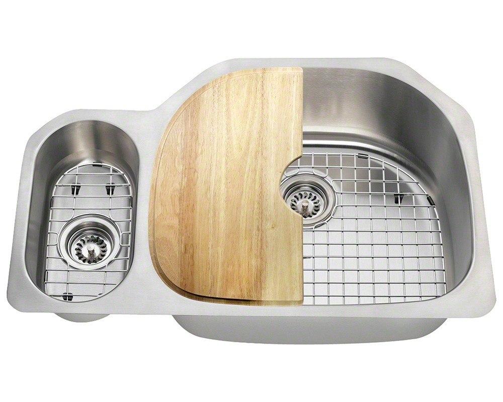 Polaris PR123-18-ENS 18 Gauge 31-3/4 Inch Kitchen Ensemple in Brushed Satin