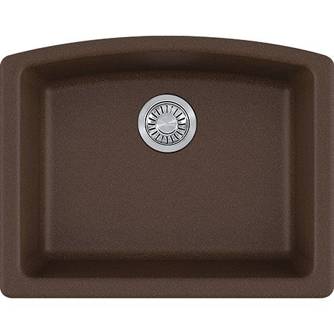 Franke ELG11022MOC Ellipse 25 Inch Undermount Single Bowl Granite Kitchen Sink in Mocha