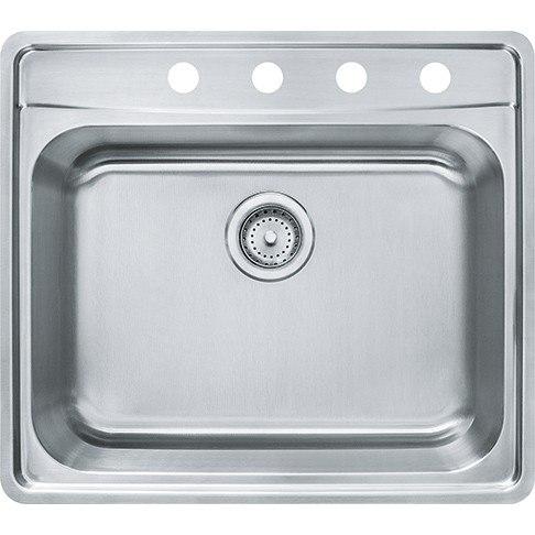 Franke Fast In Sink : Franke Franke EVSCG904-18 Evolution 25-1/2 Inch Top Mount Single Bowl ...