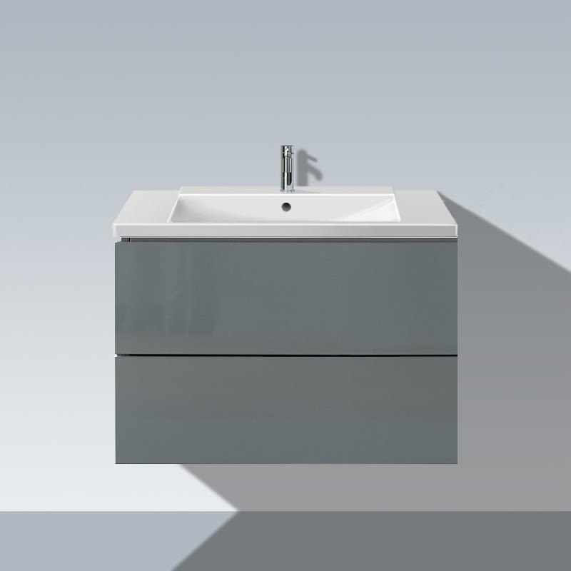 Duravit LC6241 L-Cube 32-1/4 x 19 Inch Vanity Unit Wall-Mounted, with Two Drawers