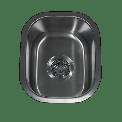 Nantucket Sinks NS1513 - 15 Inch Rectangle Undermount Stainless Steel Bar/Prep Sink-18 Gauge