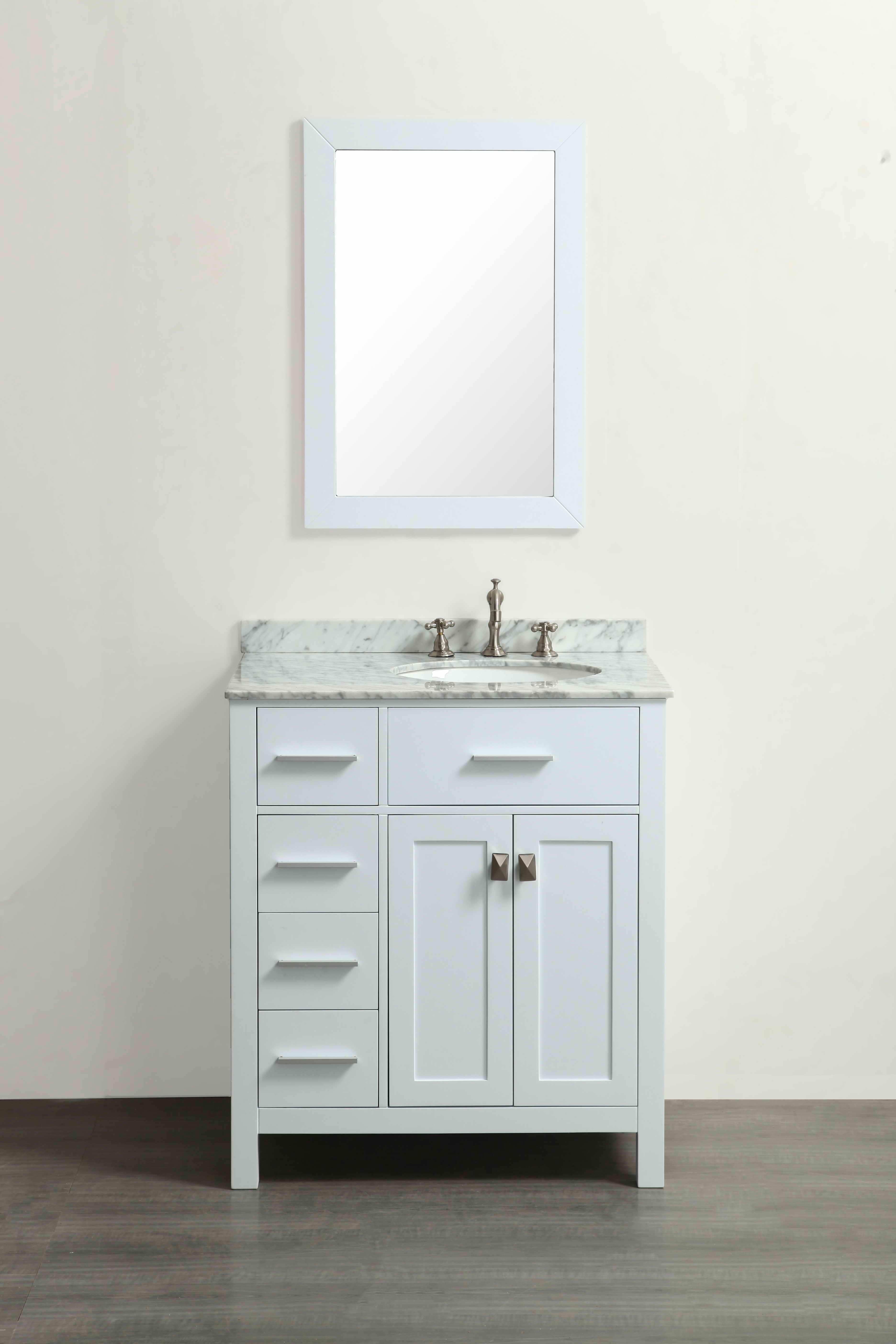 Bosconi SB-R2104WH 30 Inch Single Vanity In White SB