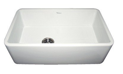 30 Inch Apron Front Sink : ... WH3018 Duet 30 Inch Reversible Fireclay sink w/ Smooth Front Apron